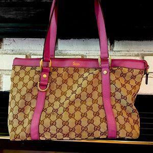 Purple Gucci bag